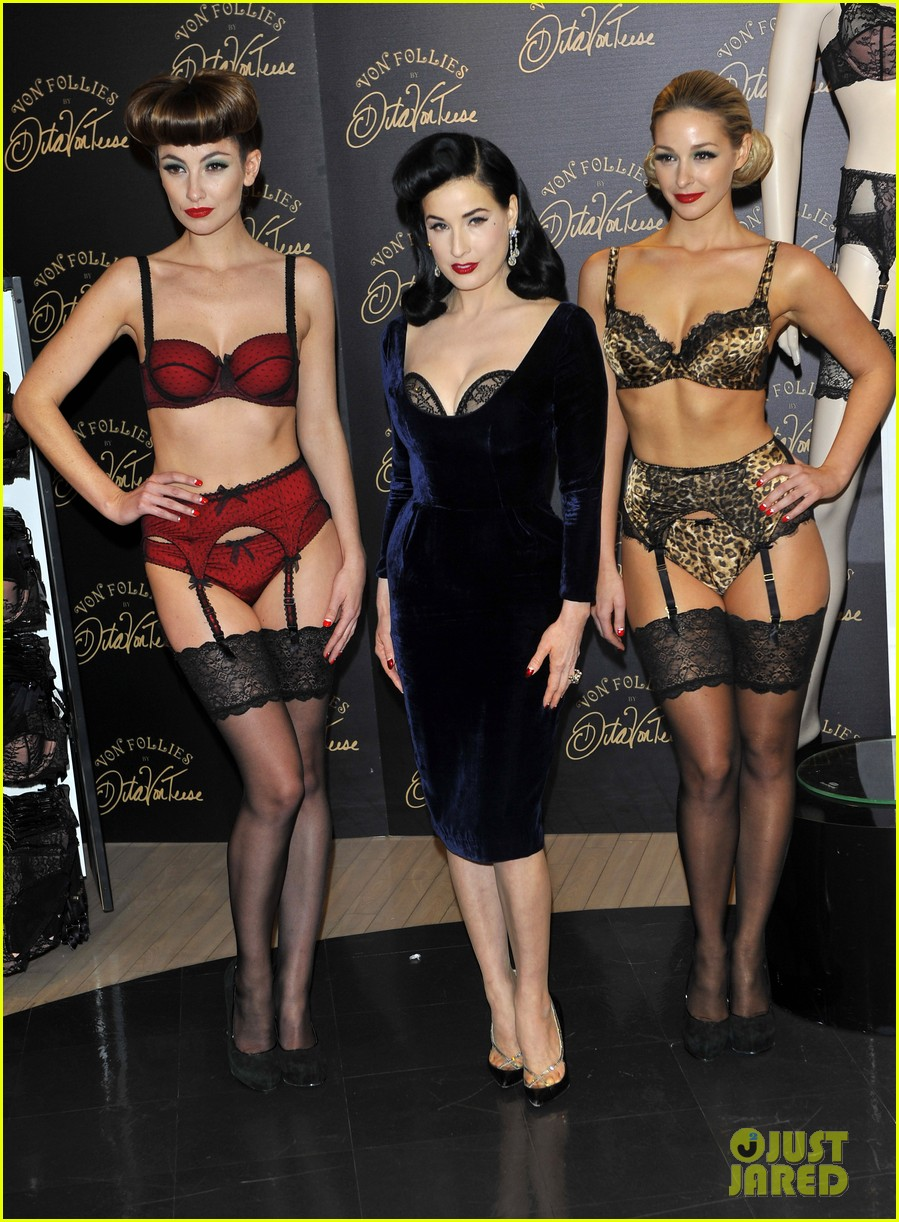 dita von teese von follies lingerie launch 03