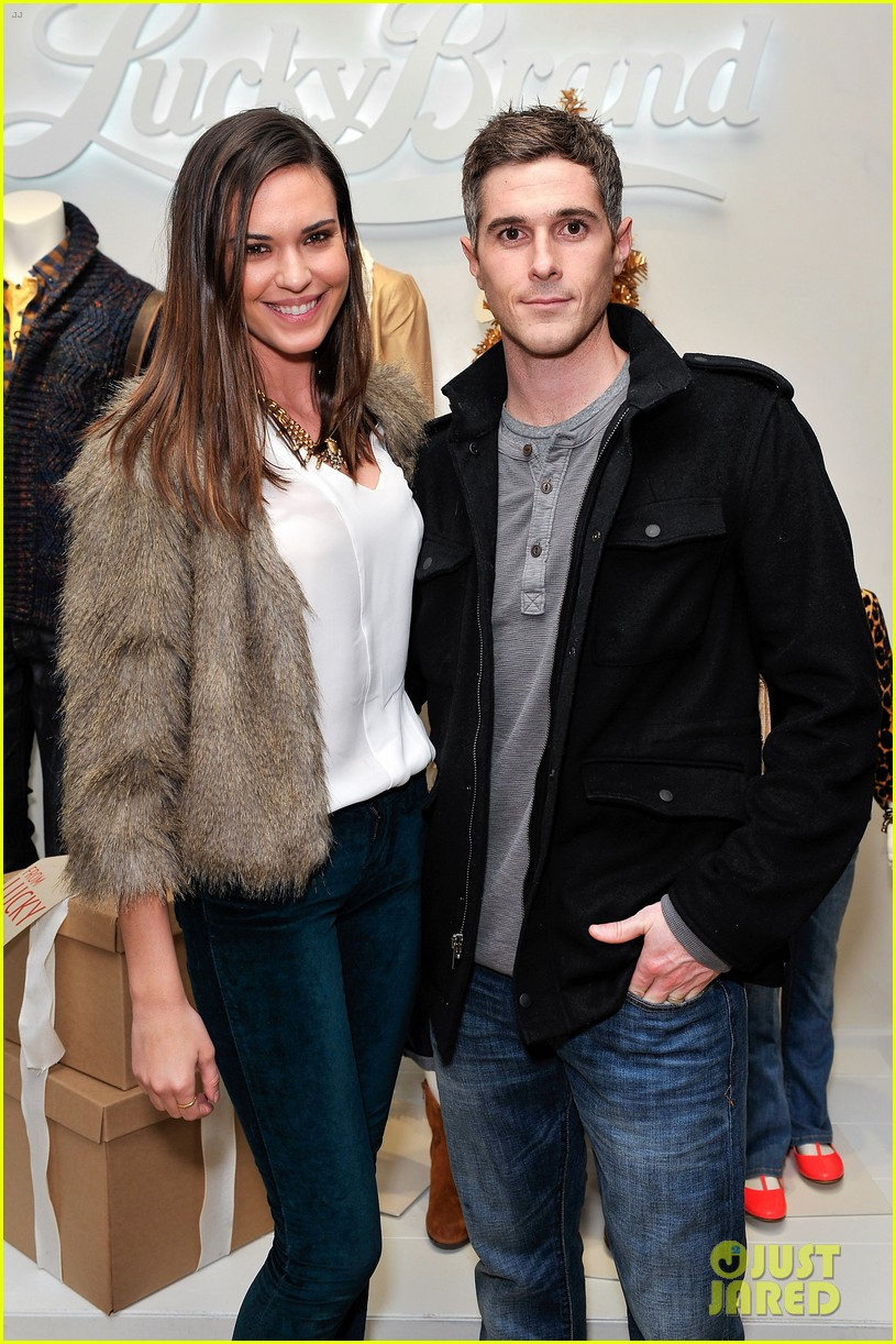 dave annable lucky brand store opening with odette 122770307