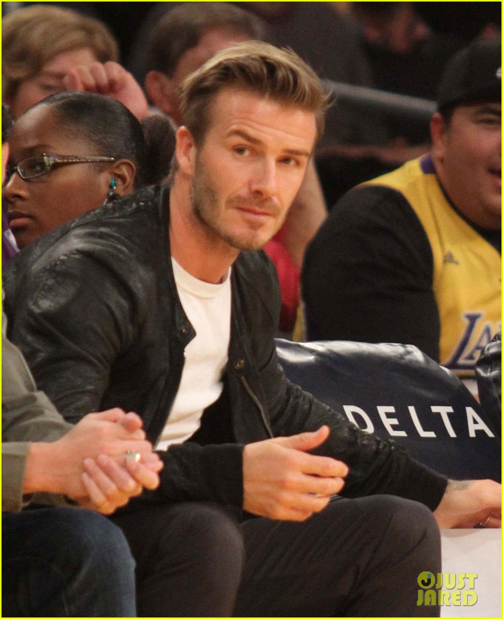 david beckham courtside lakers night 012768739