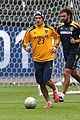 david beckham final galaxy game practice 08