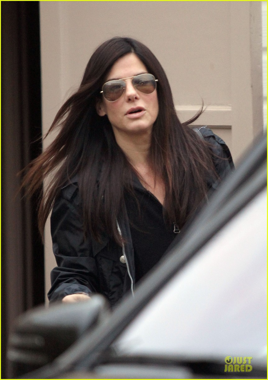 sandra bullock school drop off with rain boots 062767126