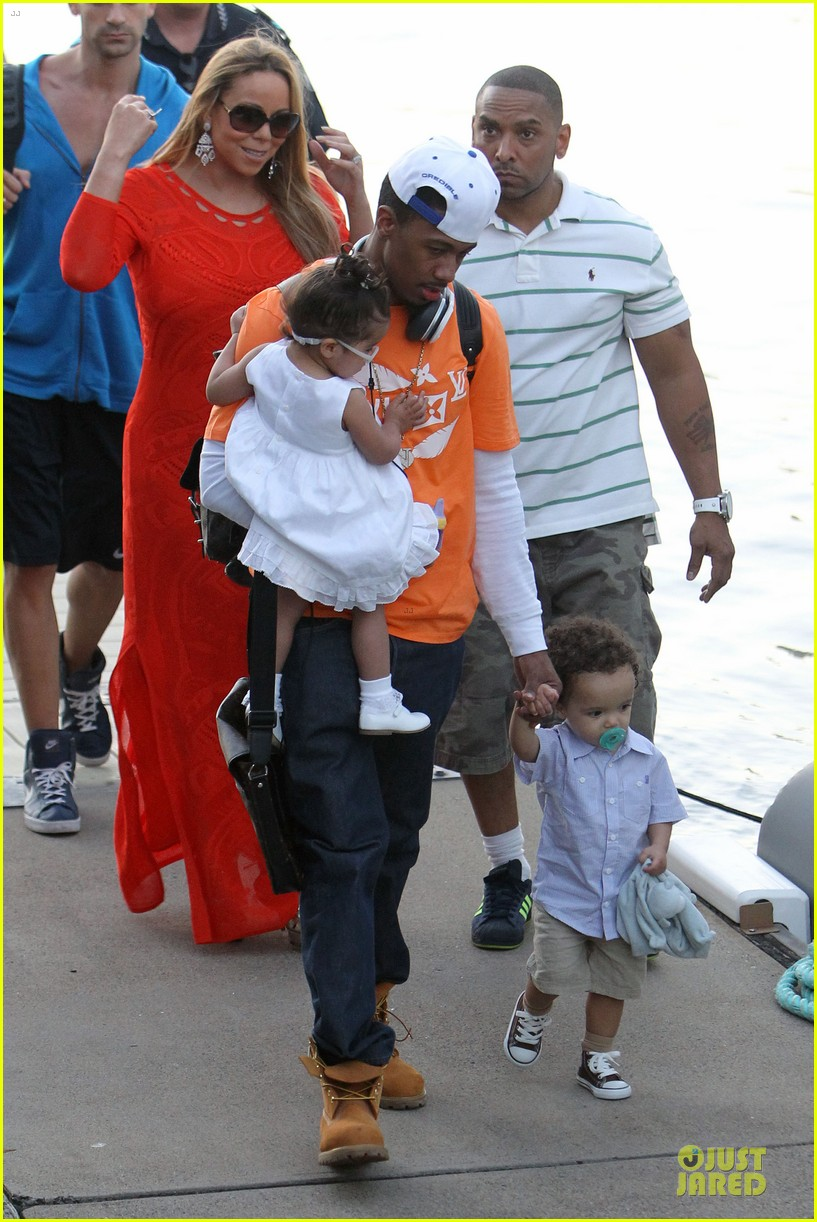 mariah carey & nick cannon australia sailing with the twins 01