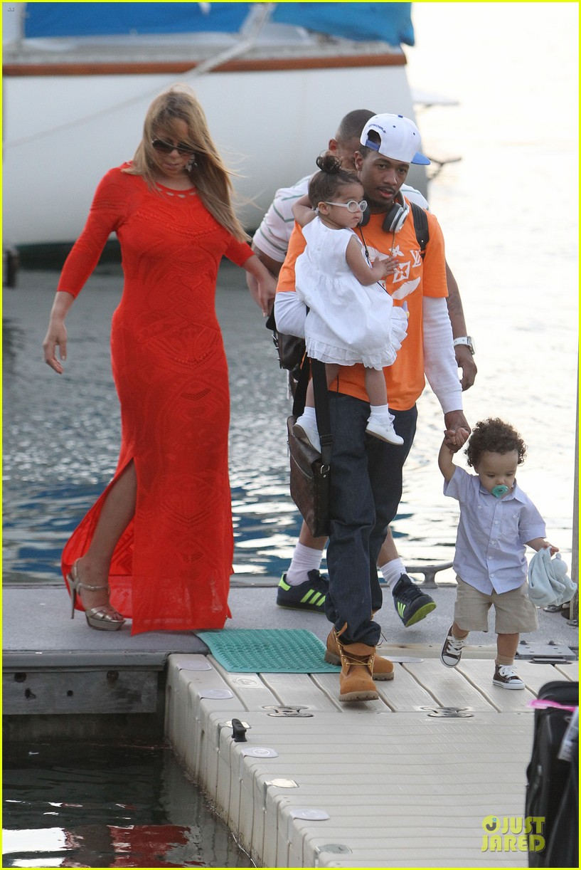 mariah carey & nick cannon australia sailing with the twins 142782032