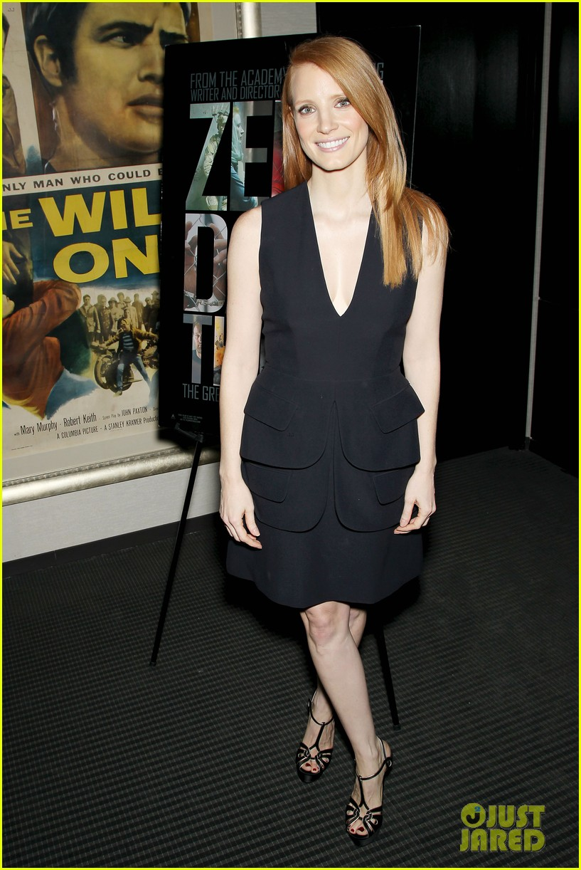 jessica chastain zero dark thirty screening with al pacino 01