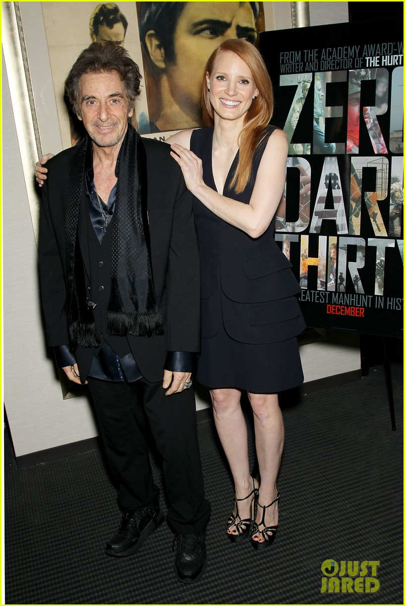 jessica chastain zero dark thirty screening with al pacino 032777824