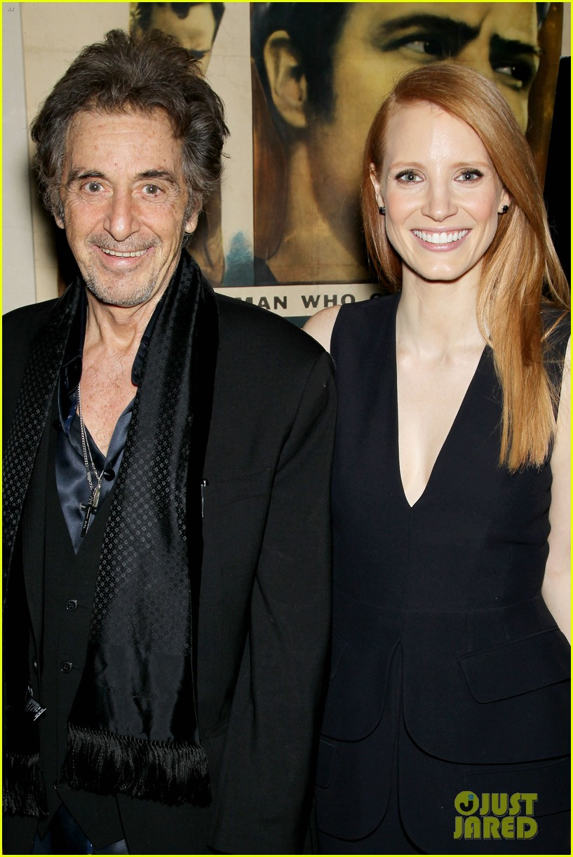 jessica chastain zero dark thirty screening with al pacino 06