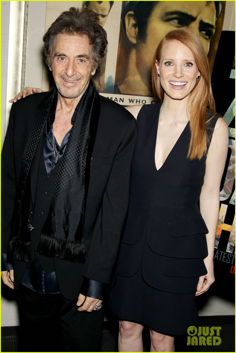 jessica chastain zero dark thirty screening with al pacino 07