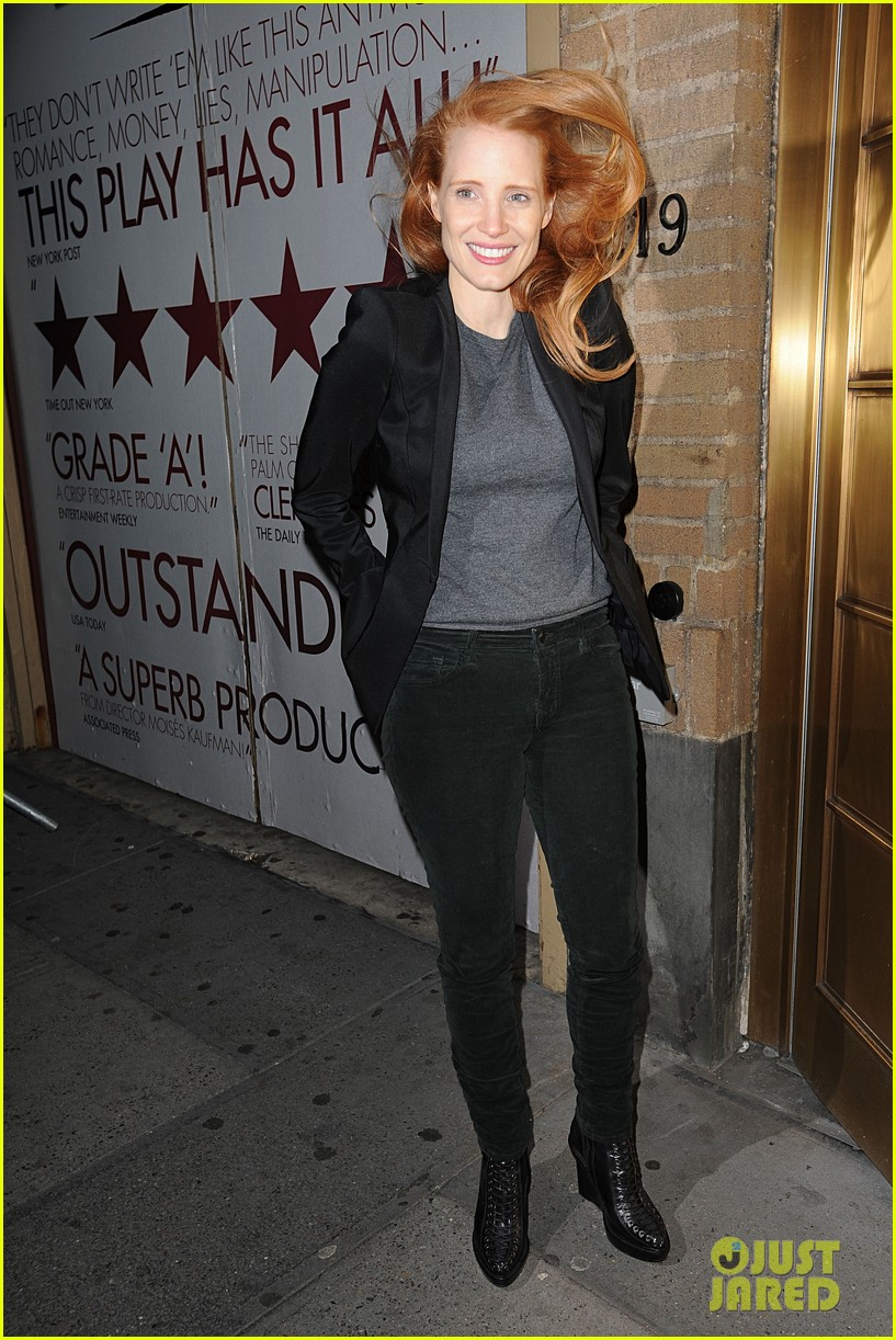 jessica chastain windswept at the heiress 01