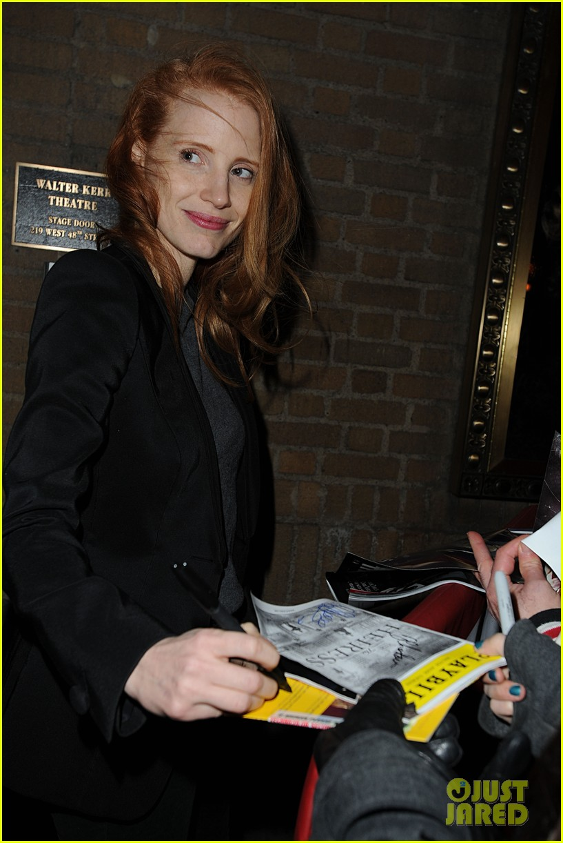 jessica chastain windswept at the heiress 12