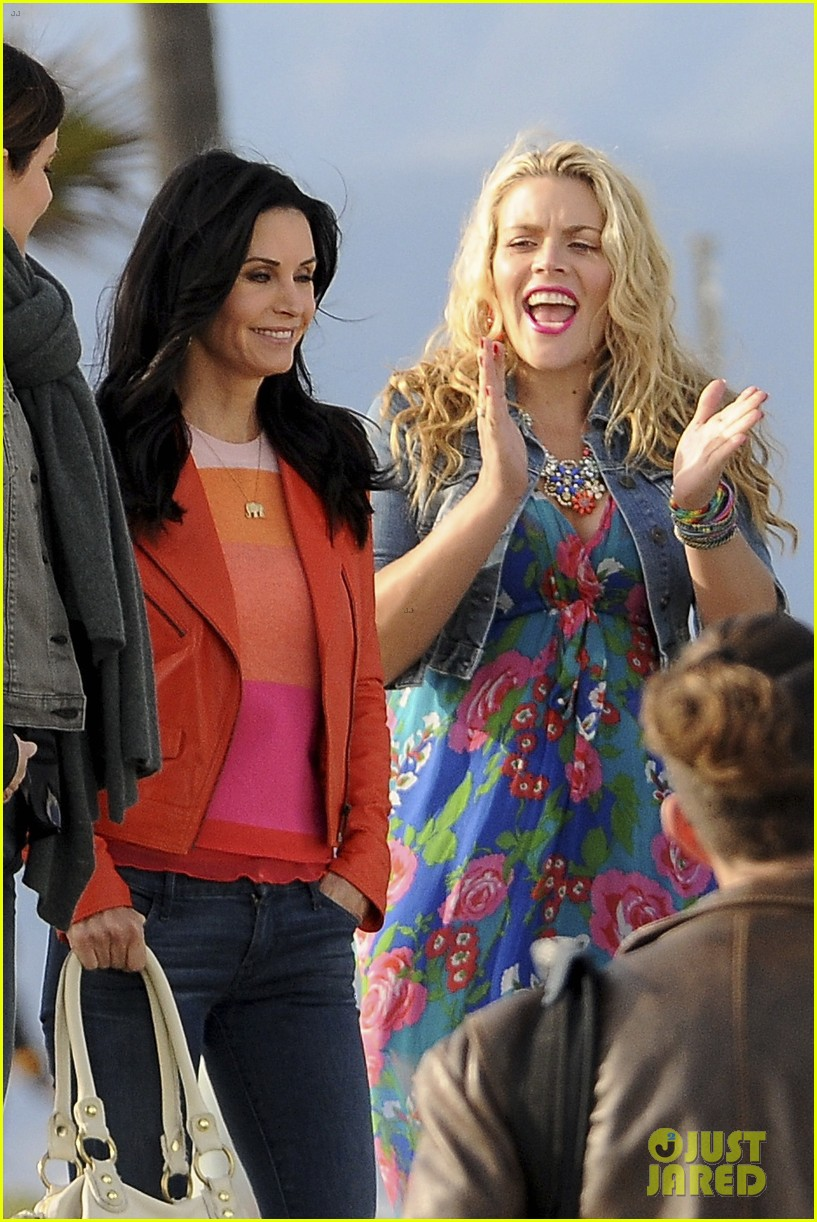 courteney cox cougar town filming 05