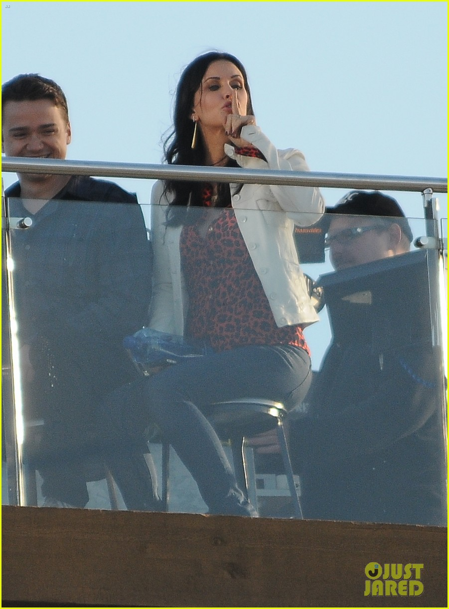 courteney cox cougar town filming 09