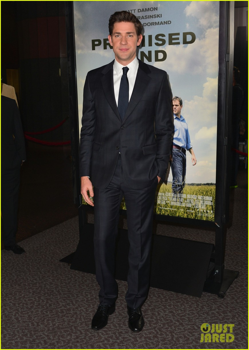 matt damon john krasinski promised land premiere 122771076