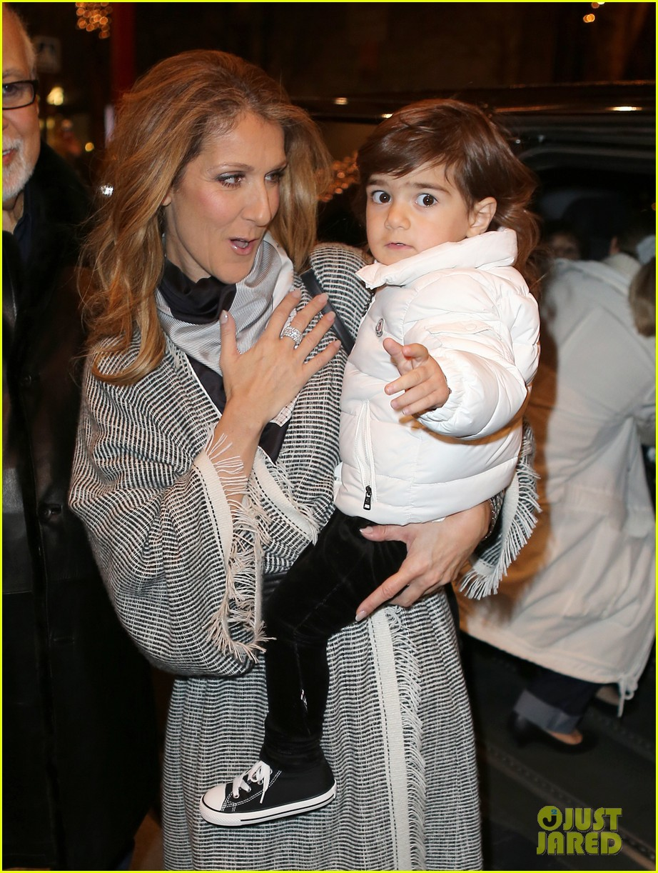 celine dion george v hotel exit with family 07
