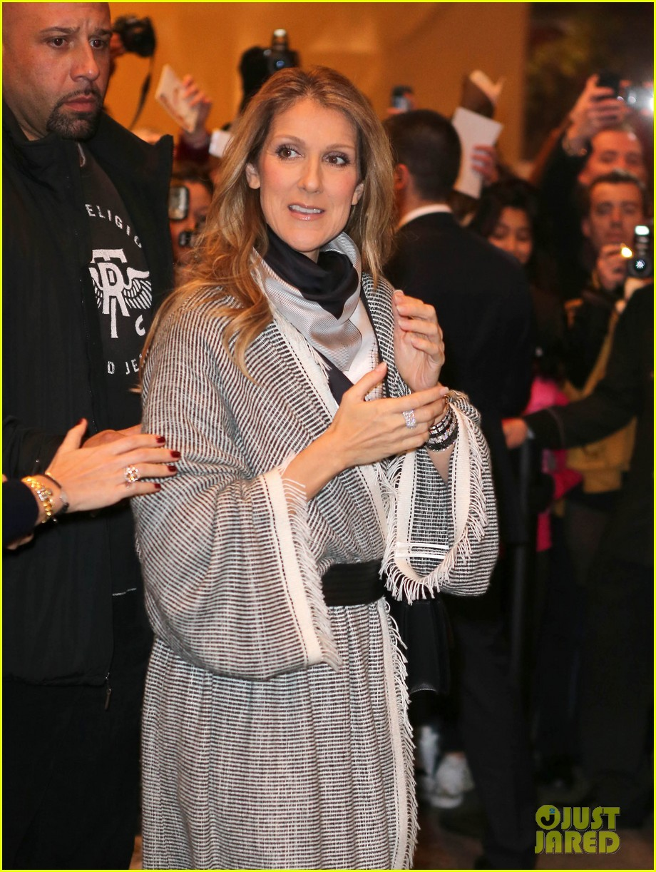 celine dion george v hotel exit with family 09
