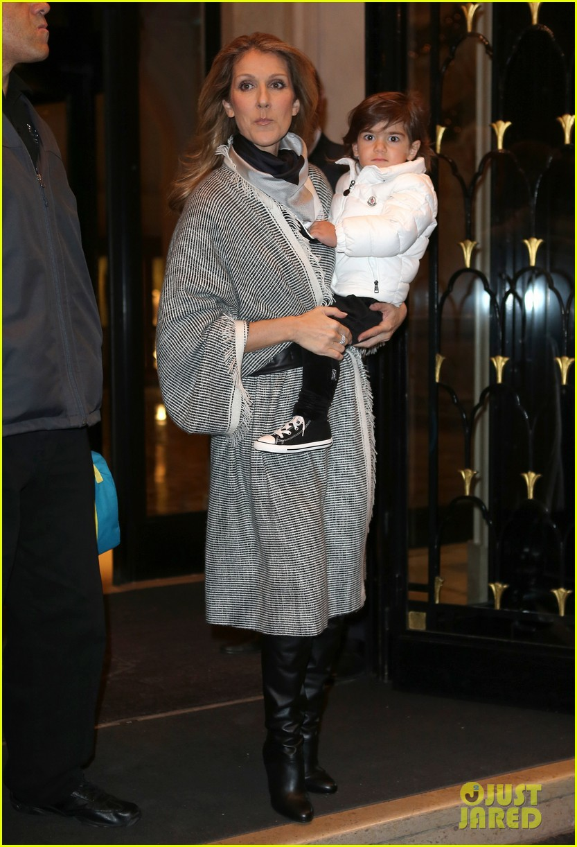 celine dion george v hotel exit with family 11