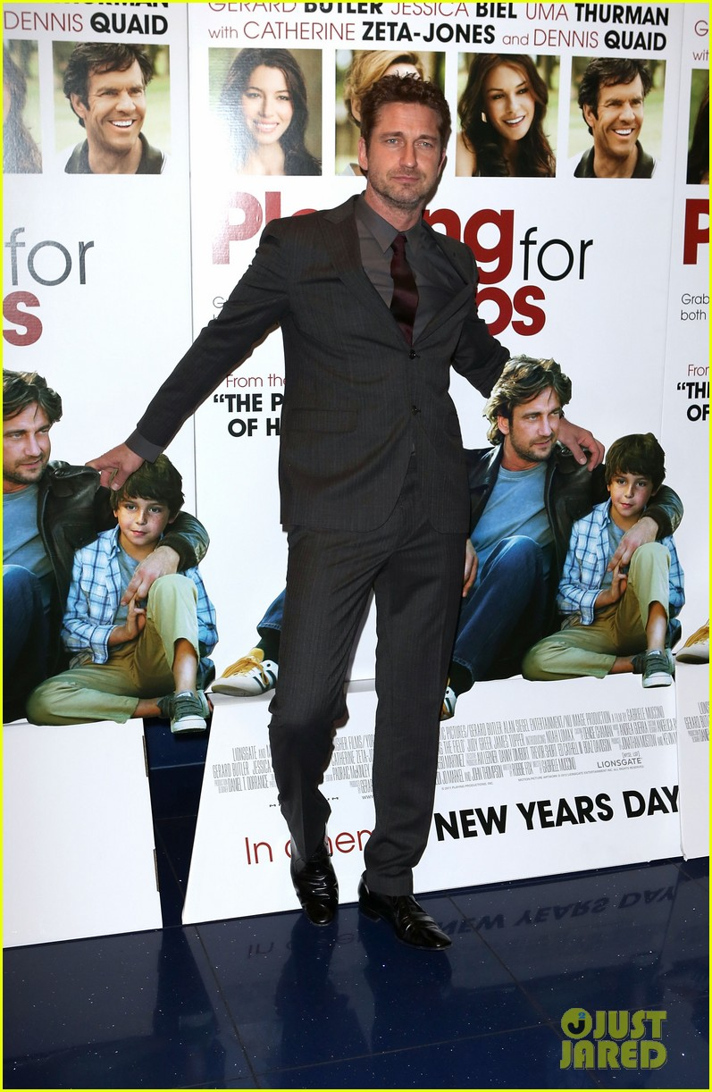 gerard butler playing for keeps london screening 05