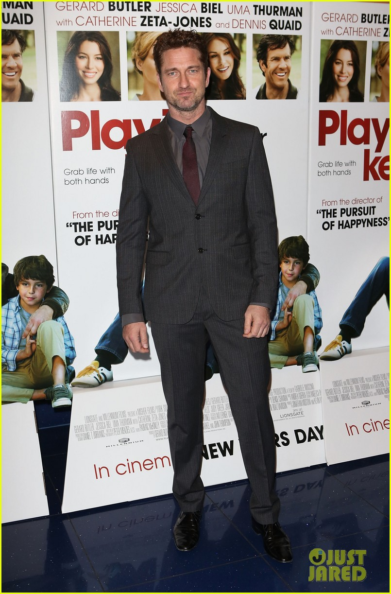 gerard butler playing for keeps london screening 07