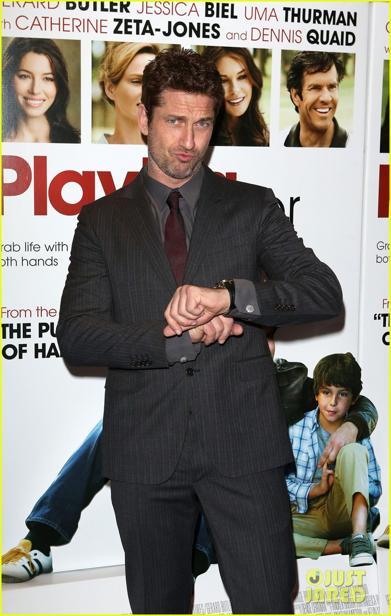 gerard butler playing for keeps london screening 10