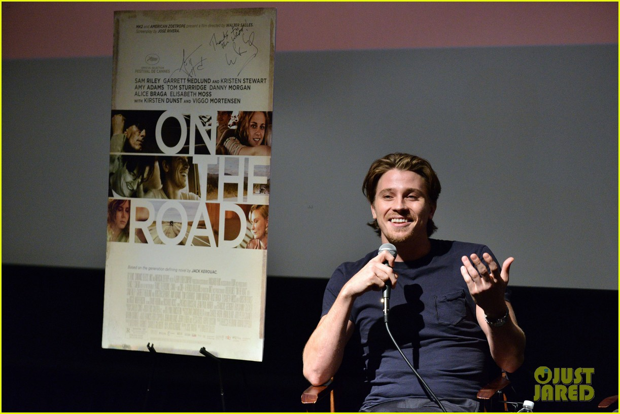 garrett hedlund on the road screening for the wrap 15
