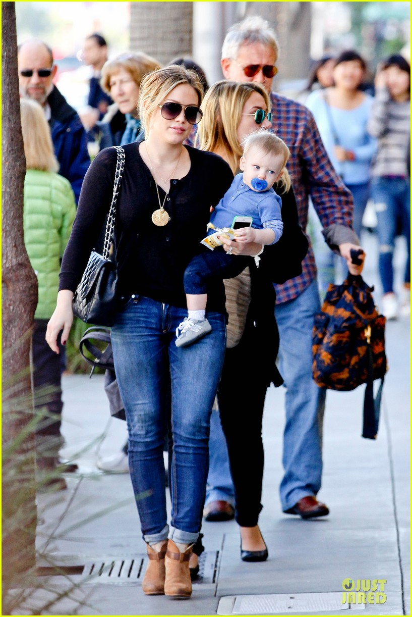 hilary duff & luca lunch with haylie 102779708