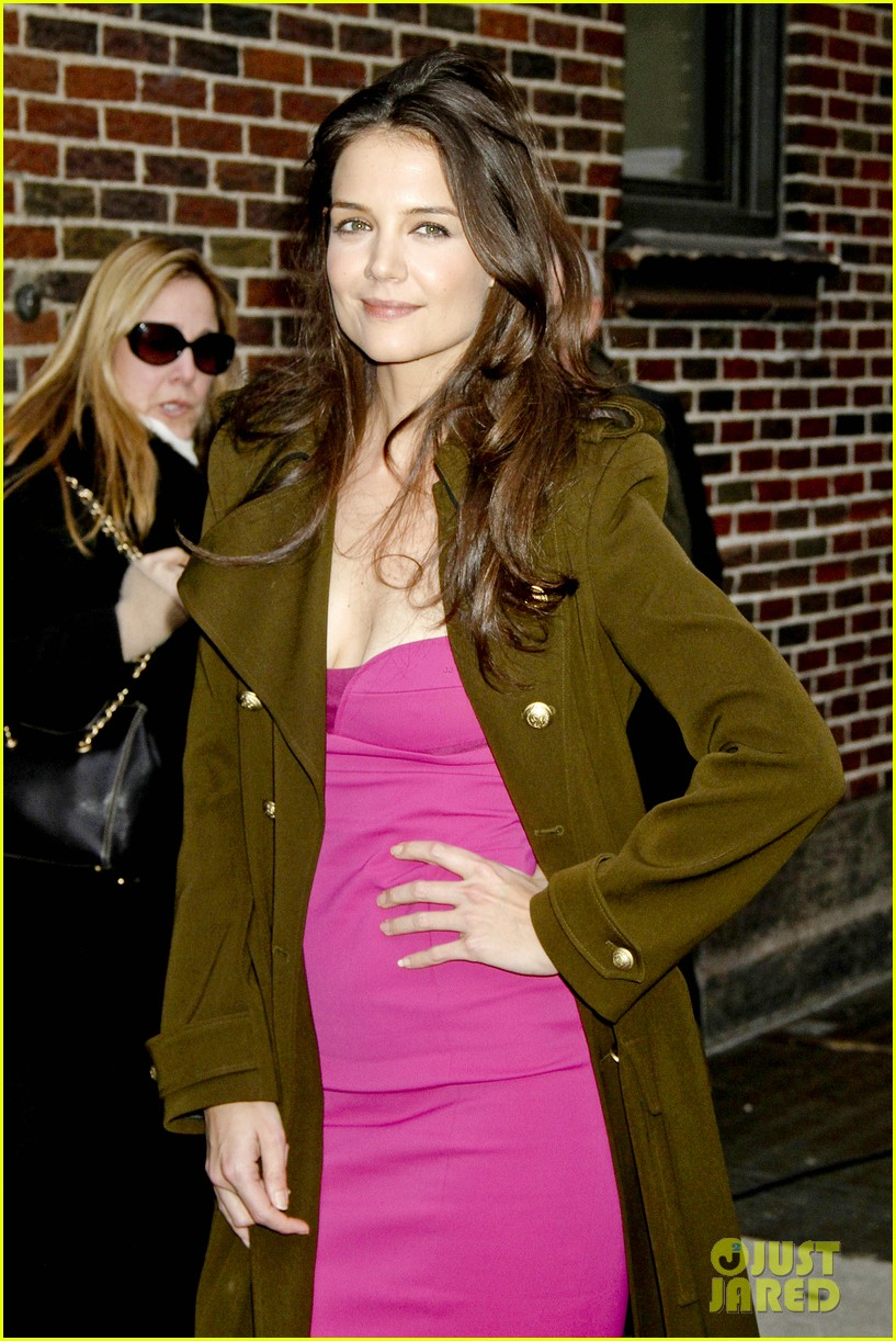 katie holmes david letterman appearance tonight 04