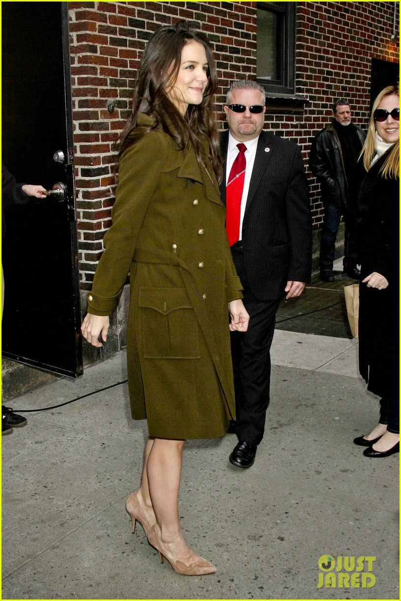 katie holmes david letterman appearance tonight 08