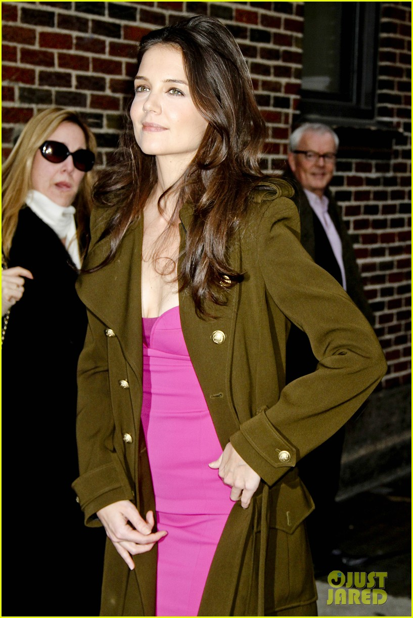 katie holmes david letterman appearance tonight 112778882