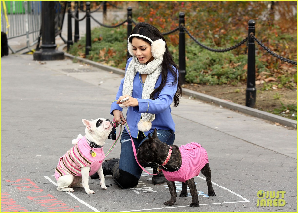 vanessa hudgens big apple dog walk 04