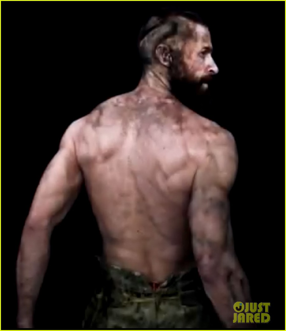 hugh jackman shirtless in les miserables featurette 03
