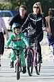 heidi klum martin kristen bike rides family 09