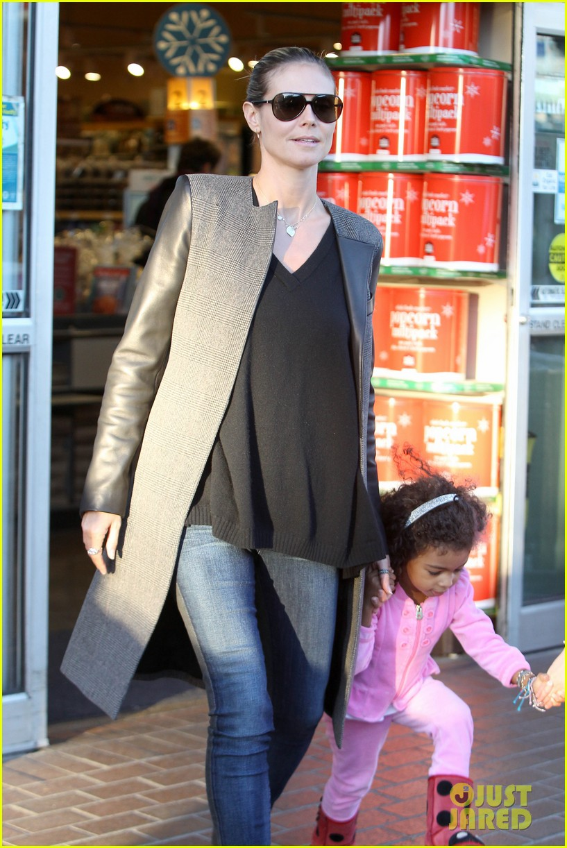 heidi klum martin kirsten lunch groceries with the kids 05