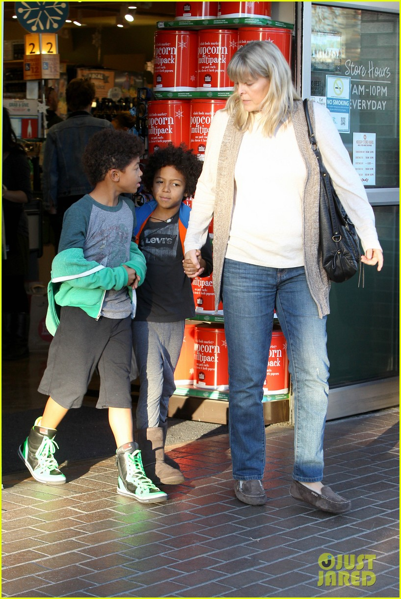 heidi klum martin kirsten lunch groceries with the kids 16