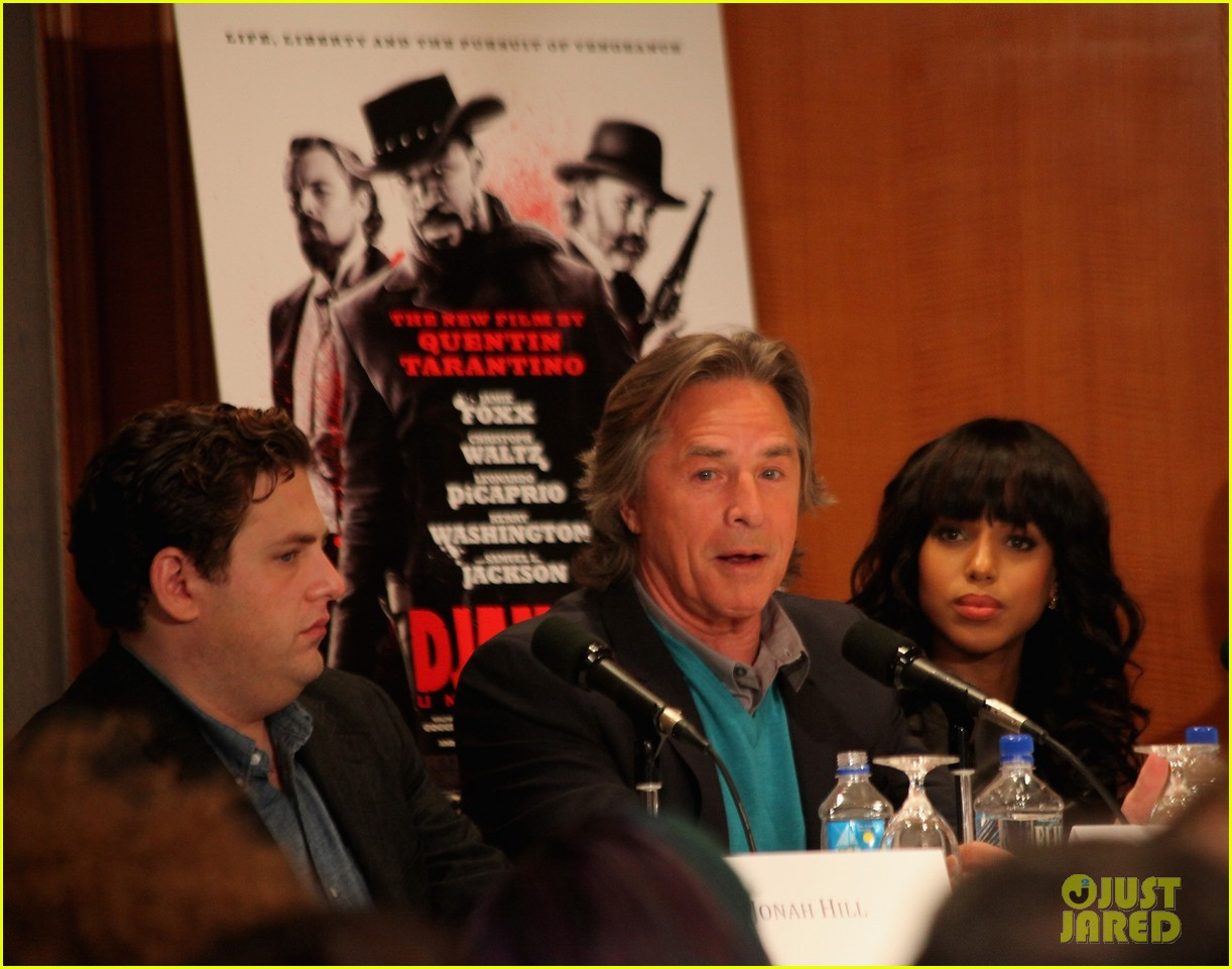 leonardo dicaprio kerry washington django unchained press conference 092776757