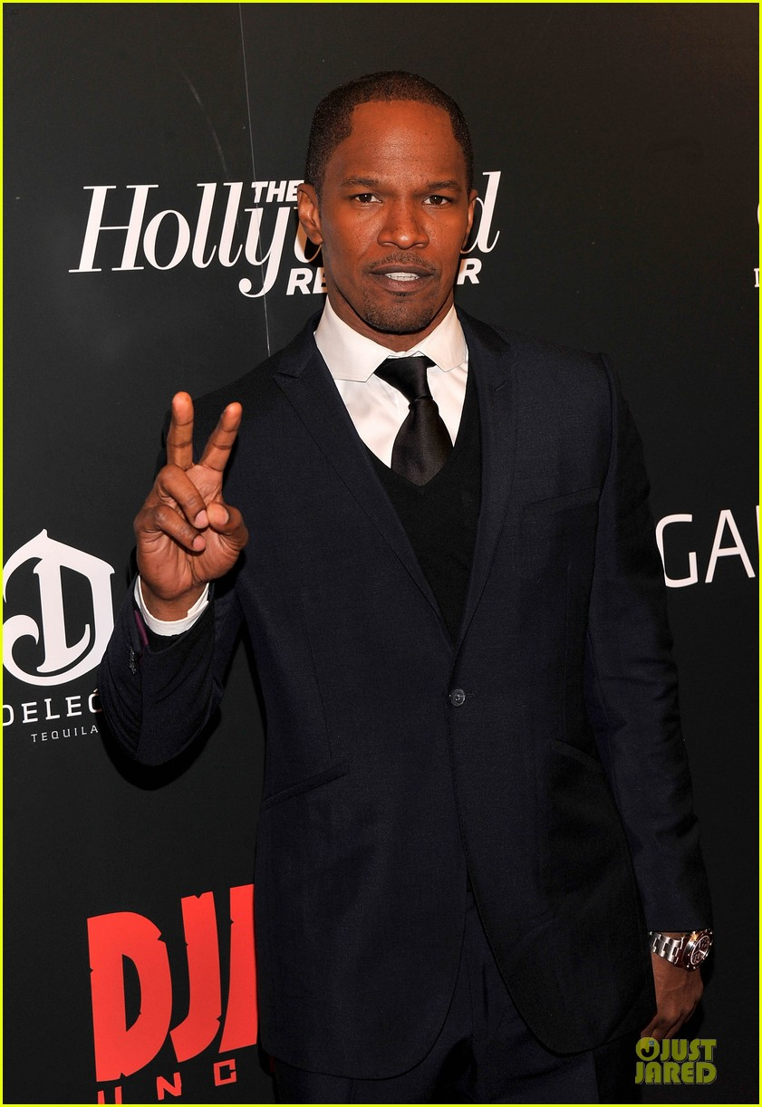 leonardo dicaprio & jamie foxx django unchained screening 02