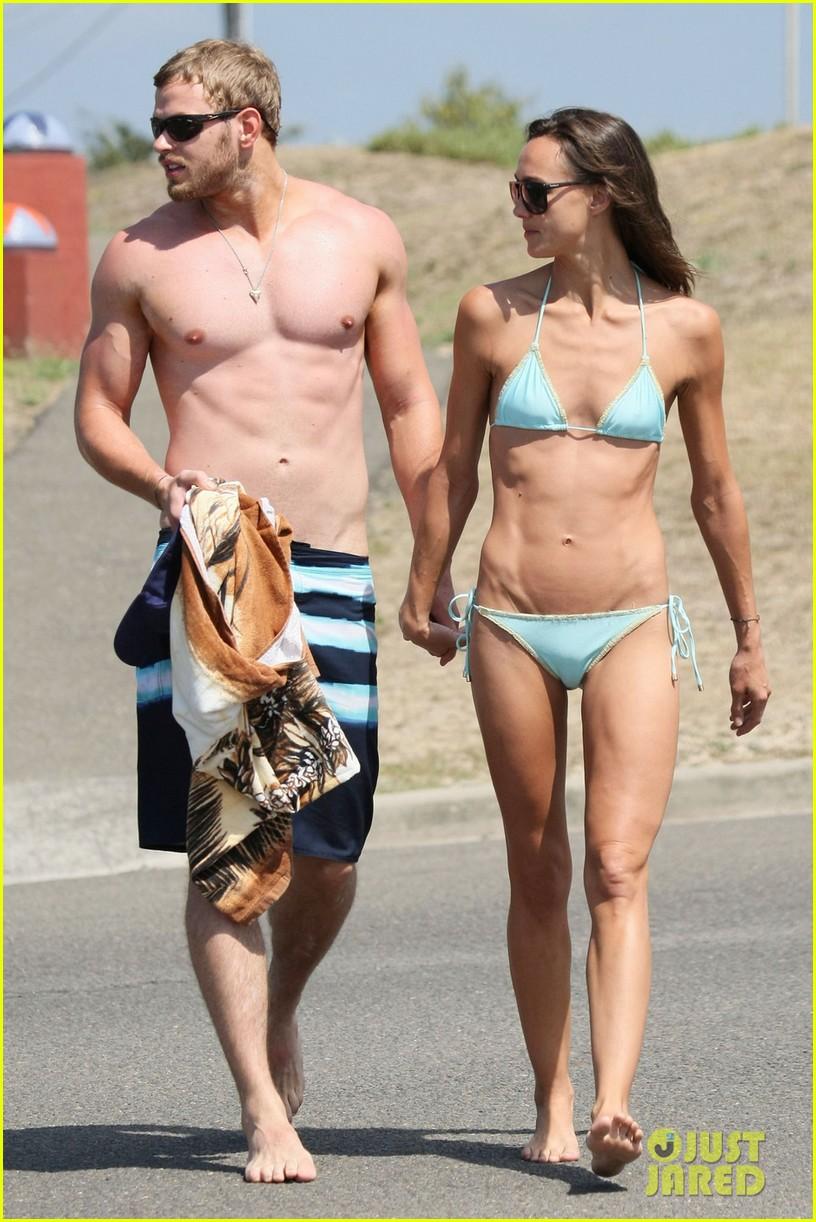 kellan lutz shirtless beach day with sharni vinson 25