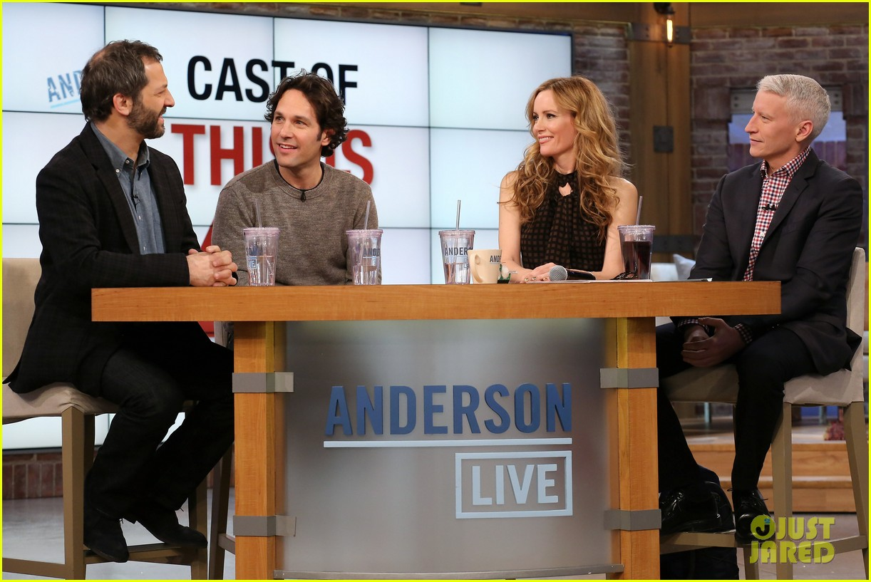leslie mann paul rudd this is 40 crew visits anderson live 03