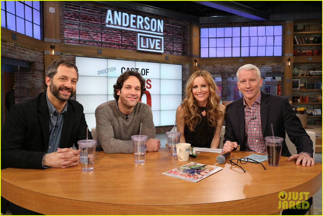 leslie mann paul rudd this is 40 crew visits anderson live 05