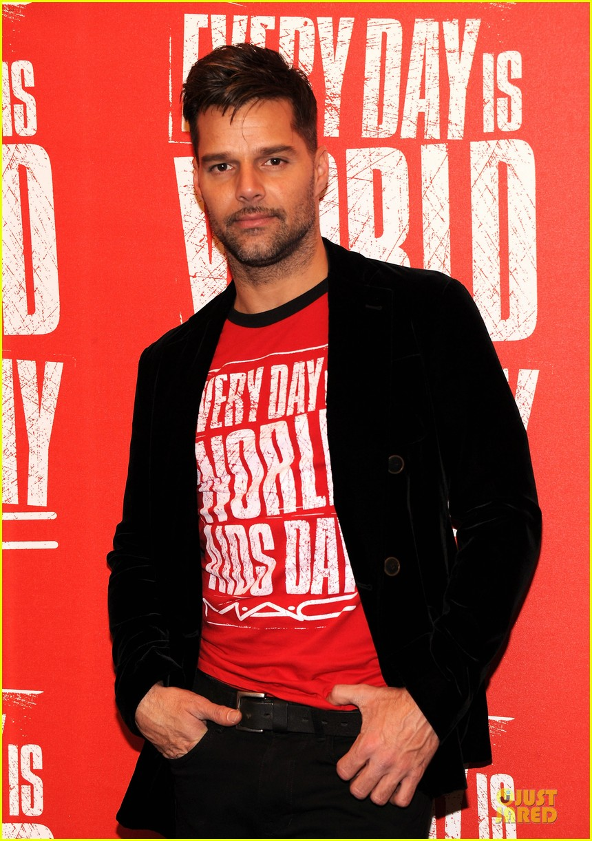ricky martin world aids day event 06