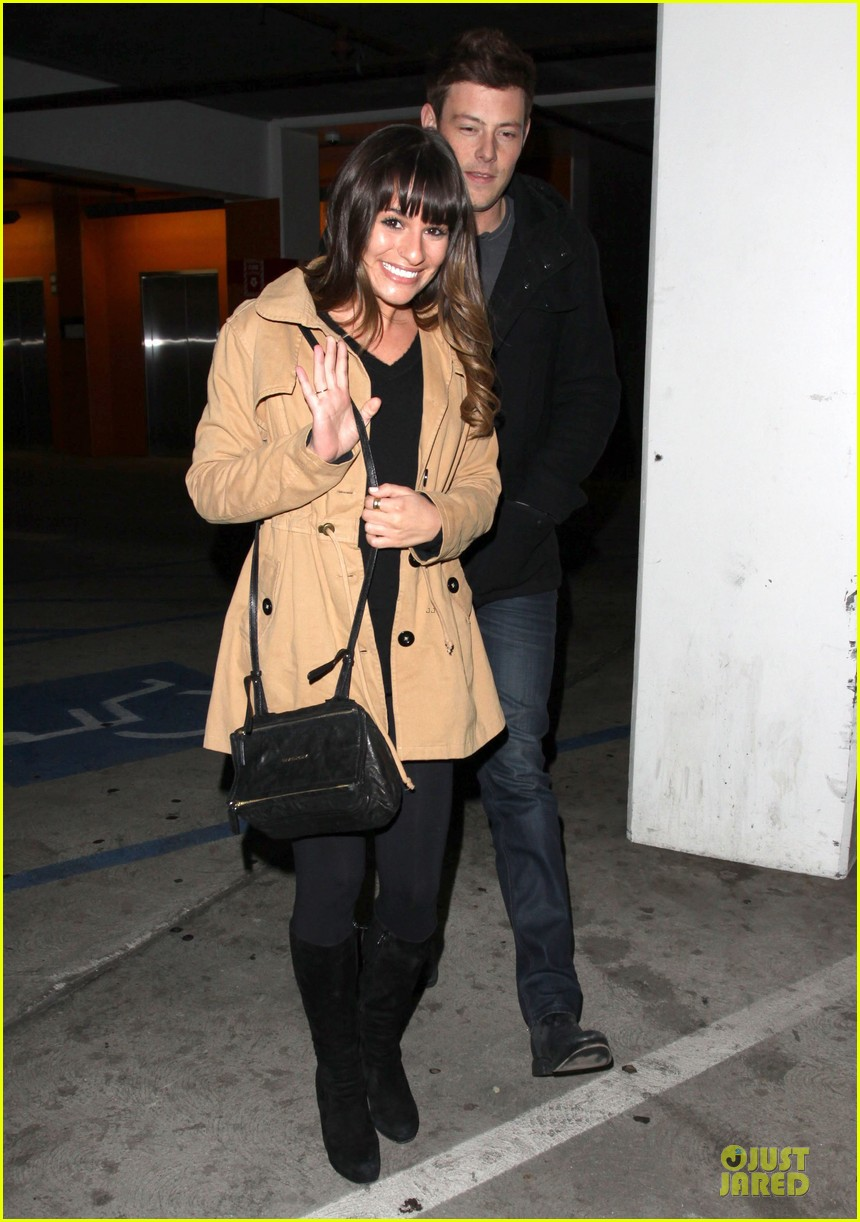 lea michele & cory monteith argo movie date 03