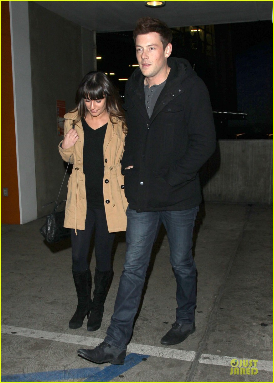 lea michele & cory monteith argo movie date 11