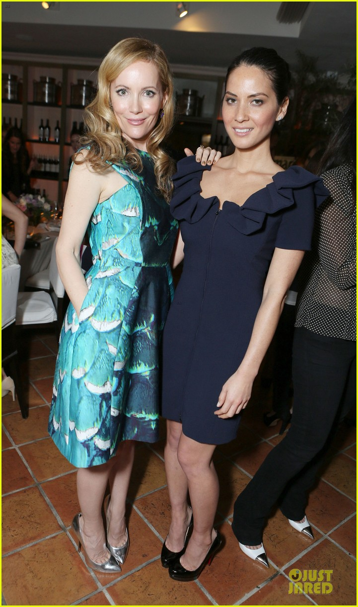 lea michele olivia munn marie claire hollywood dinner 032769517