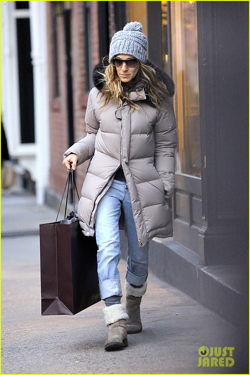 sarah jessica parker post christmas shopping 02