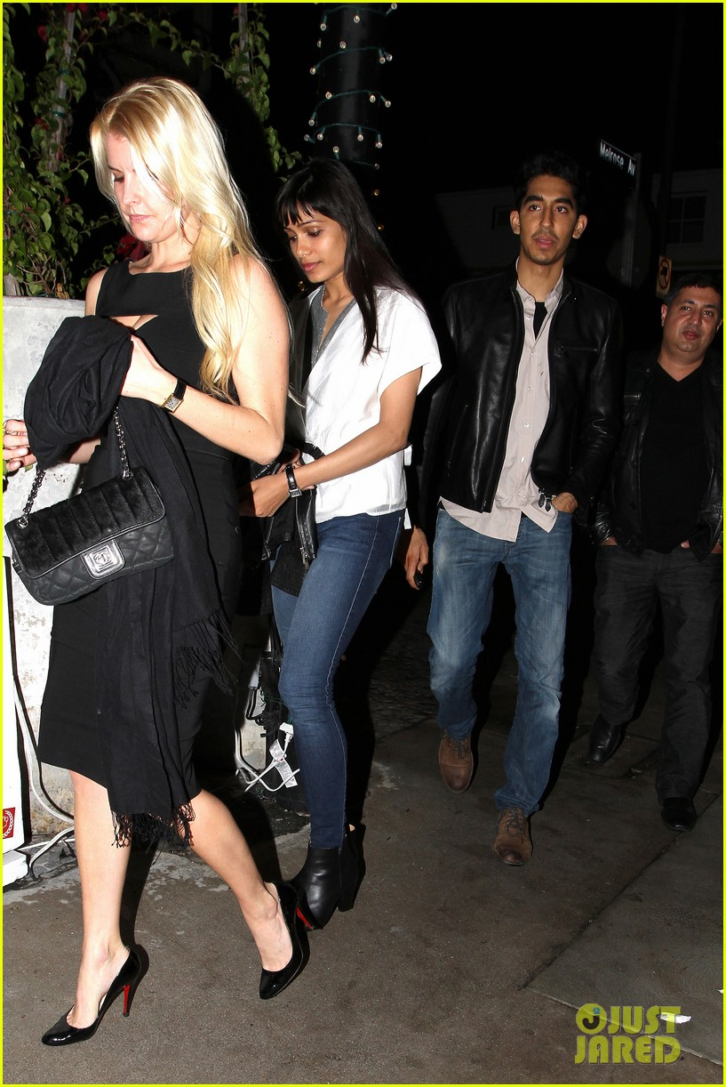 Full Sized Photo of freida pinto dev patel red o dinner ... Freida Pinto Boyfriend