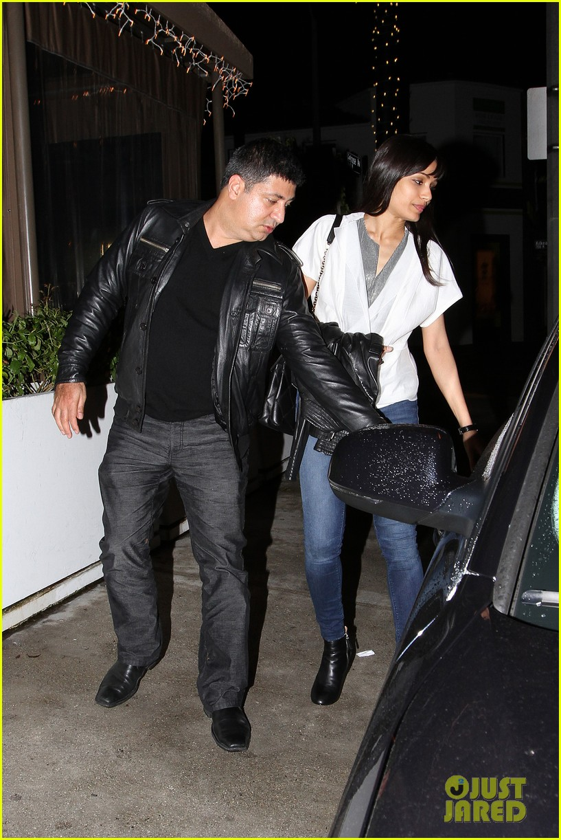 freida pinto dev patel red o dinner with pals 032767858