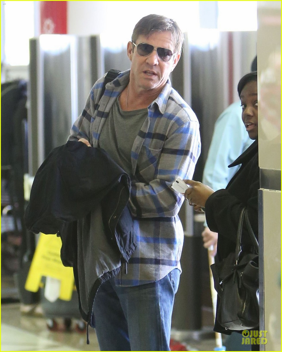 dennis quaid lax departure with a mystery woman 02