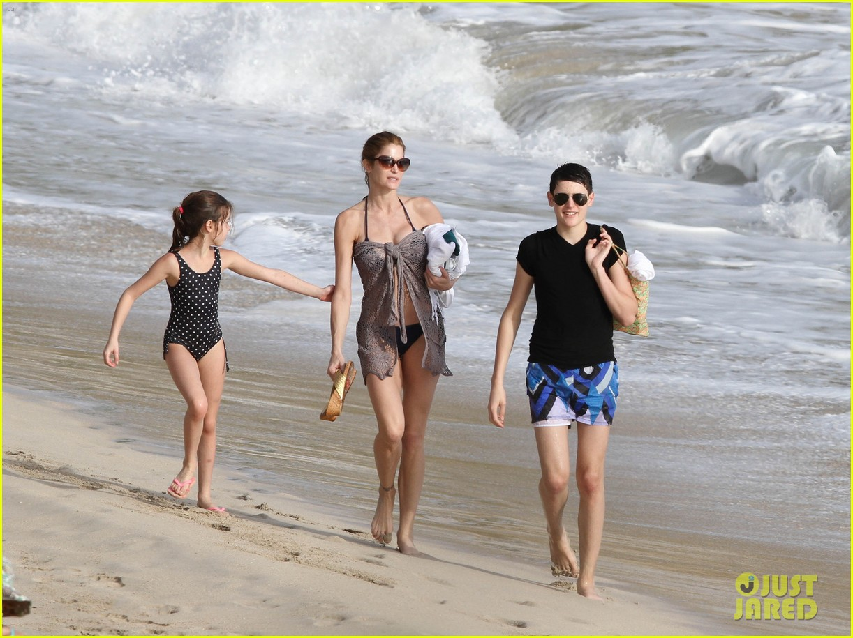 stephanie seymour st barts family vacation 06