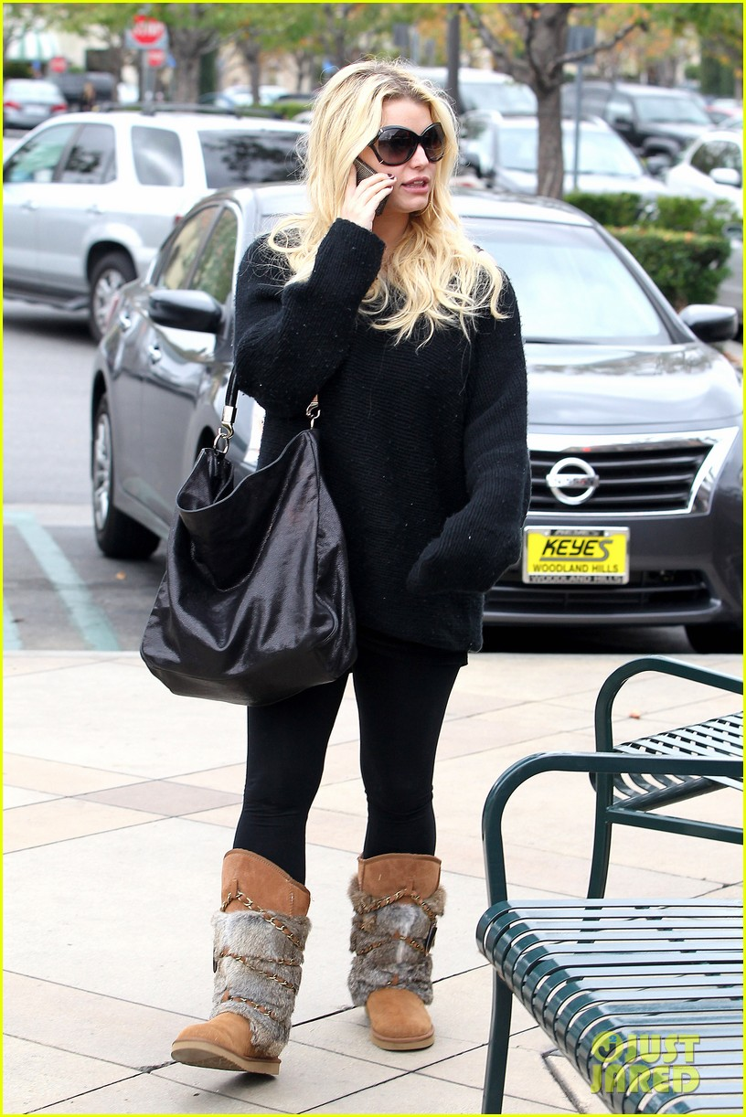 jessica simpson eric johnson kings fish house lunch 10
