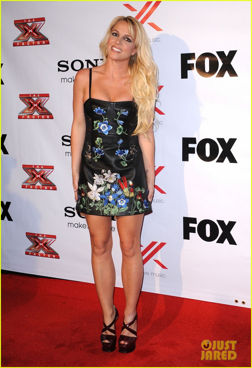 britney spears demi lovato x factor viewing  party 10