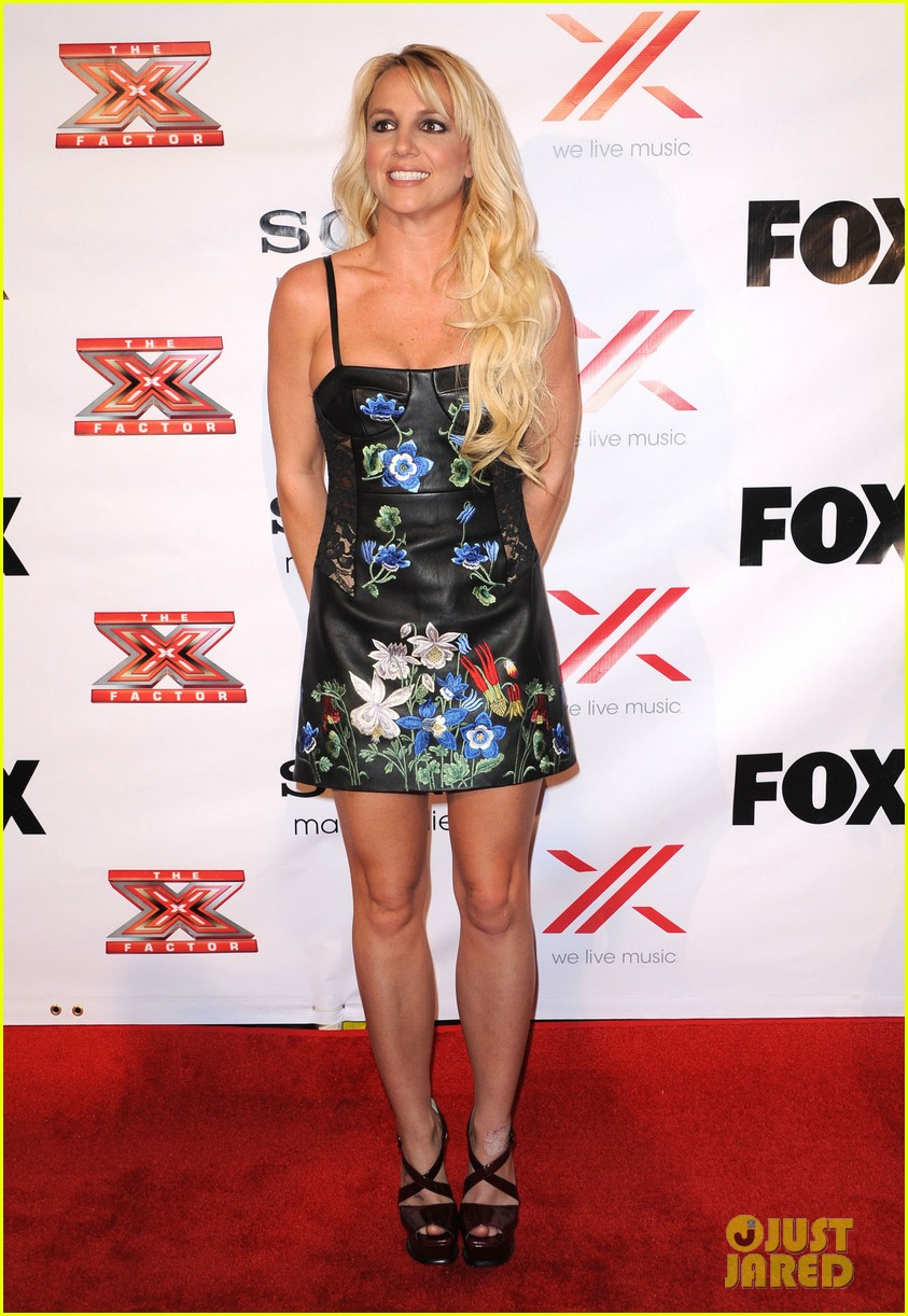 britney spears demi lovato x factor viewing  party 11