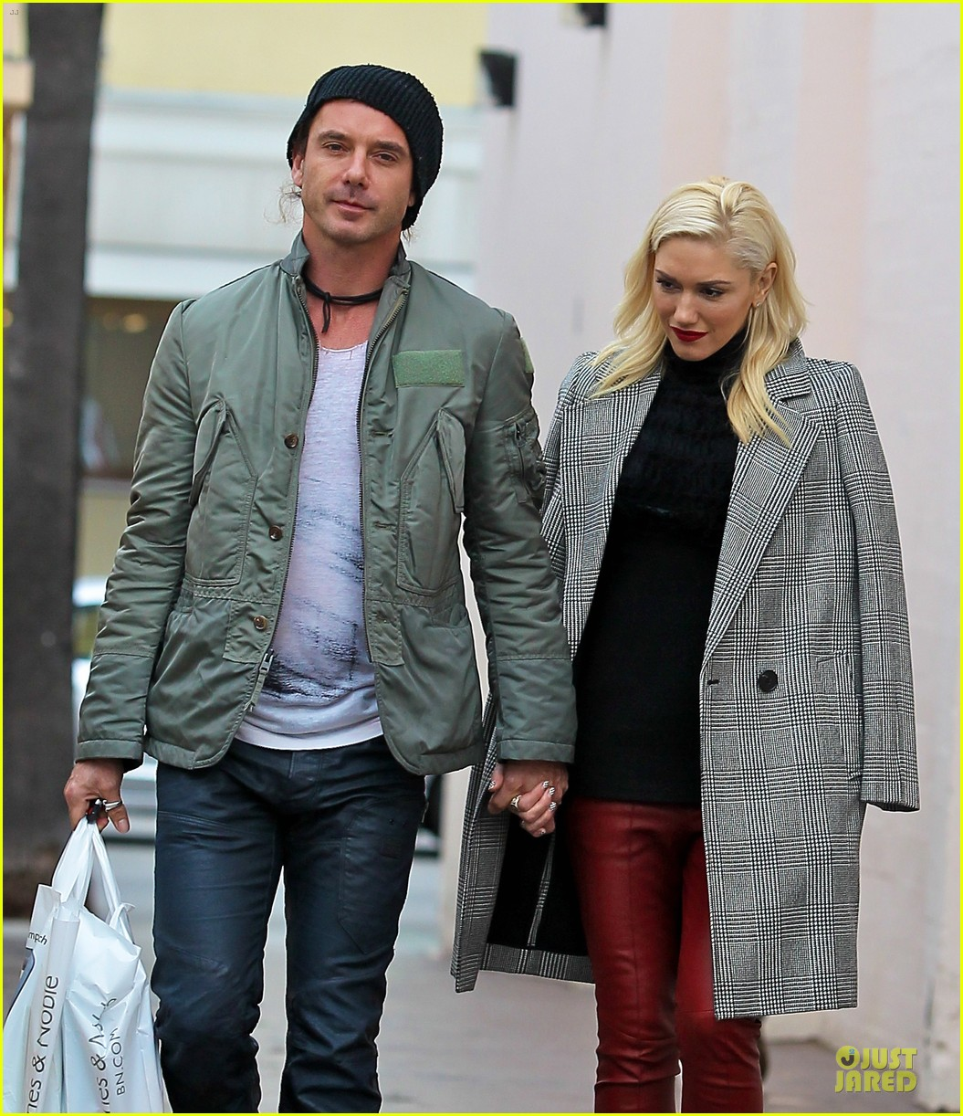 gwen stefani & gavin rossdale holiday shopping couple 122778203